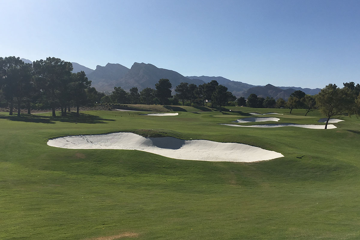 view of a bunker at TPC Summerlin